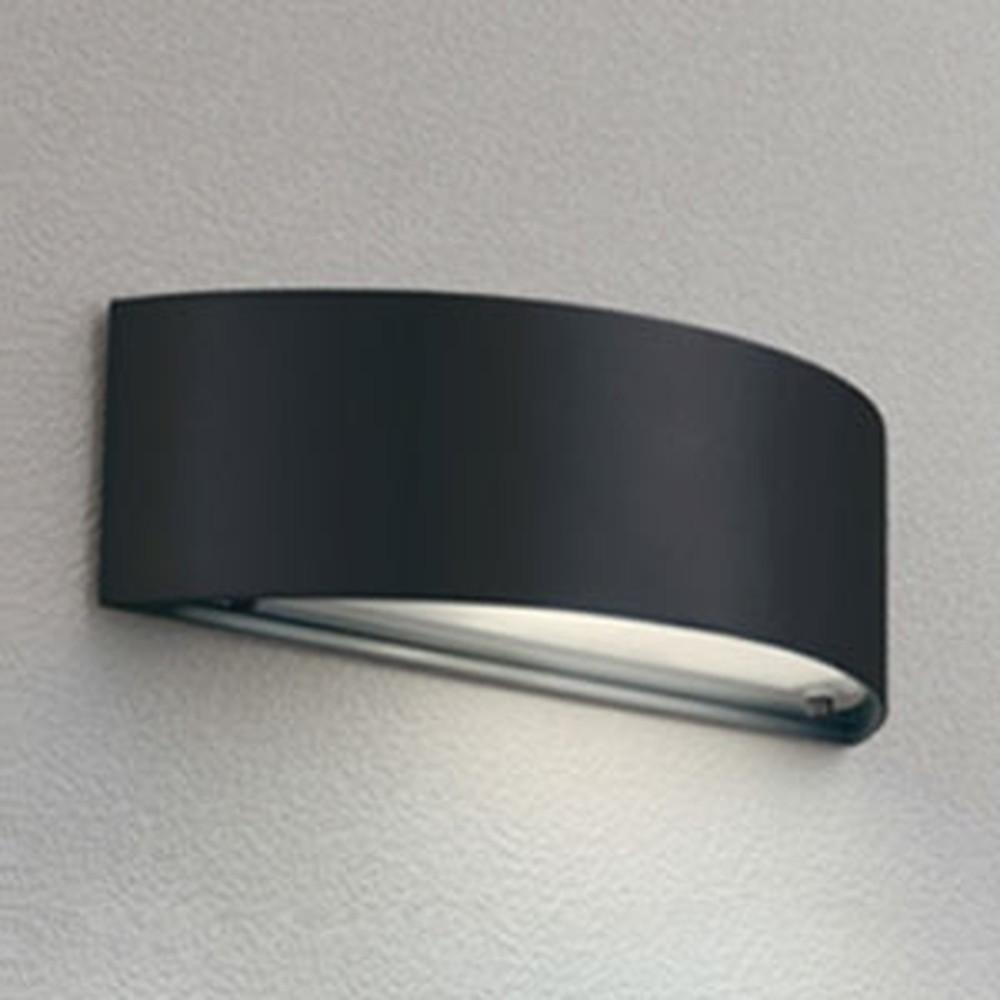 オーデリック LEDポーチライト 防雨型 下面配光タイプ 電球色 別売センサ対応 黒色レザートーン OG041483LC