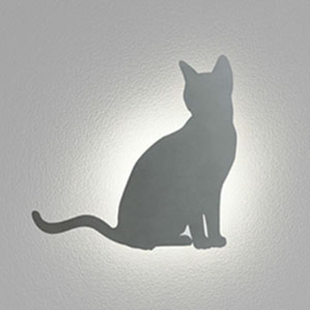 オーデリック LED一体型ポーチライト 《DECO WALL LIGHT》 防雨型 電球色 ネコ OG254377