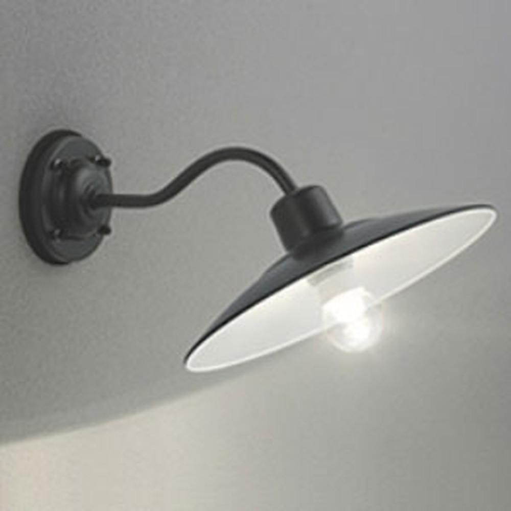 オーデリック LEDポーチライト 防雨型 白熱灯40W相当 電球色 別売センサ対応 黒 OG254104LC