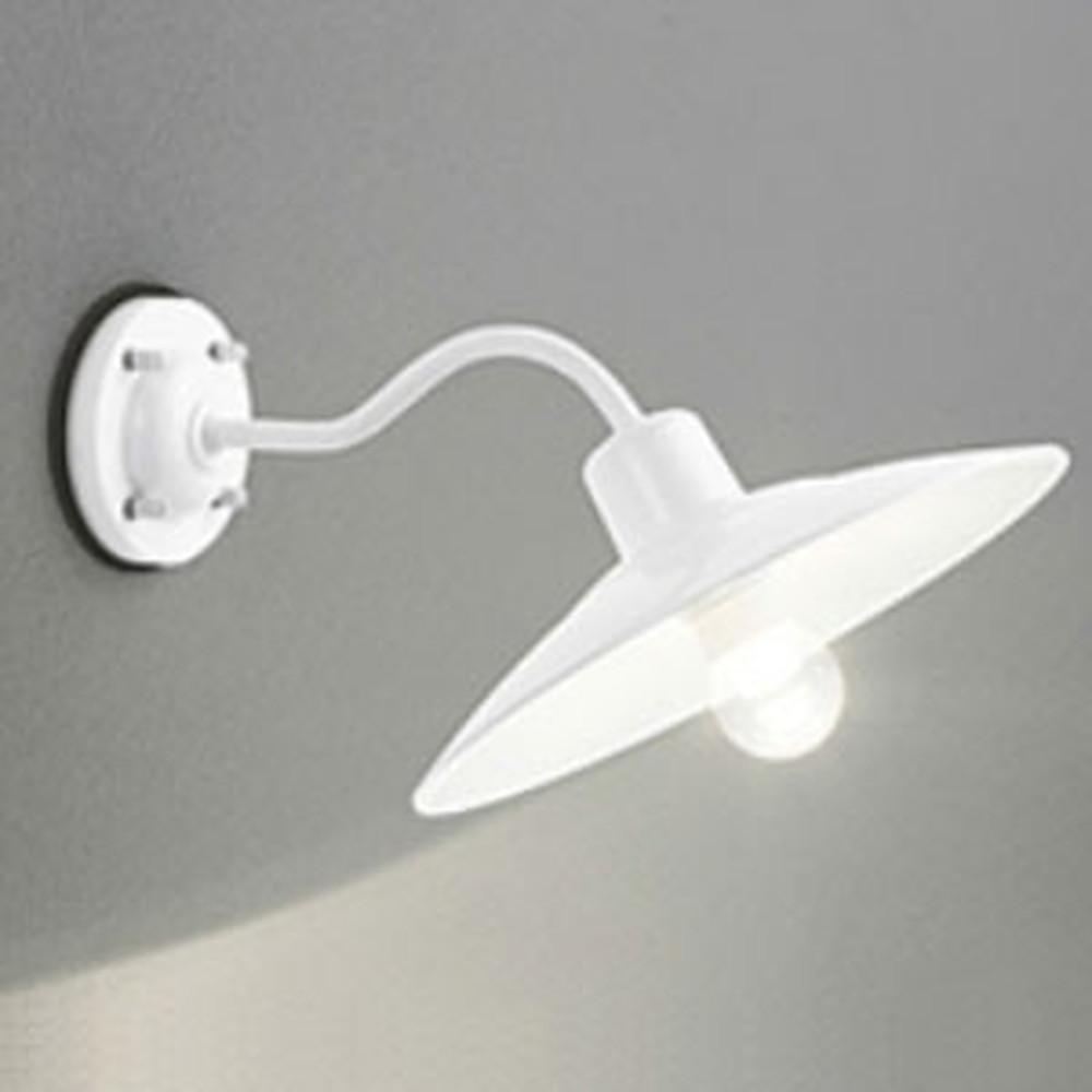 オーデリック LEDポーチライト 防雨型 白熱灯40W相当 電球色 別売センサ対応 白 OG254103LC