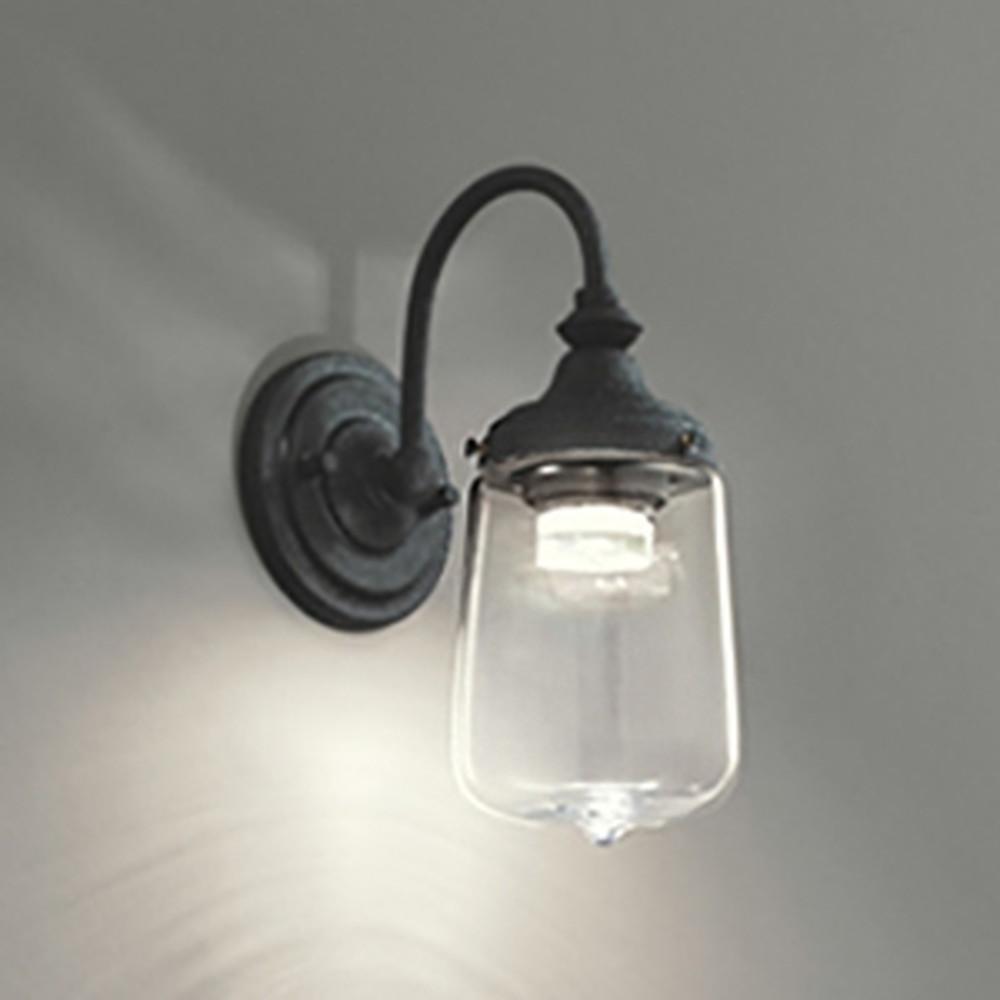 オーデリック LED一体型ブラケットライト 白熱灯60W相当 電球色 調光タイプ 透明 OB255126