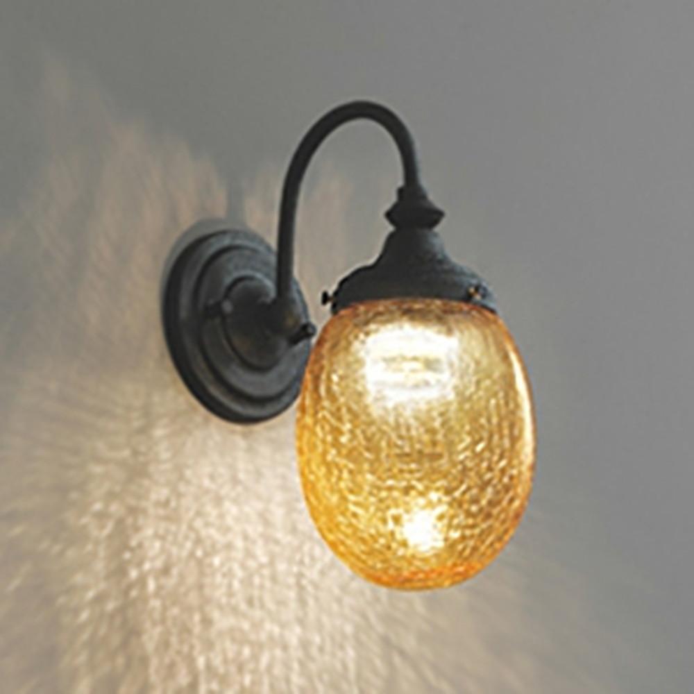 オーデリック LED一体型ブラケットライト 白熱灯60W相当 電球色 調光タイプ アンバー色 OB255127