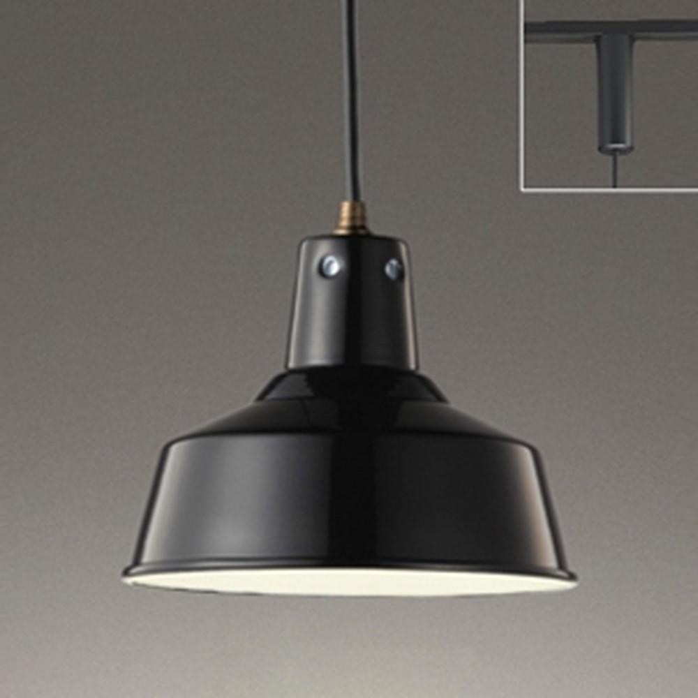 オーデリック LEDペンダントライト ライティングレール取付専用 白熱灯60W相当 電球色 黒 OP252329LD