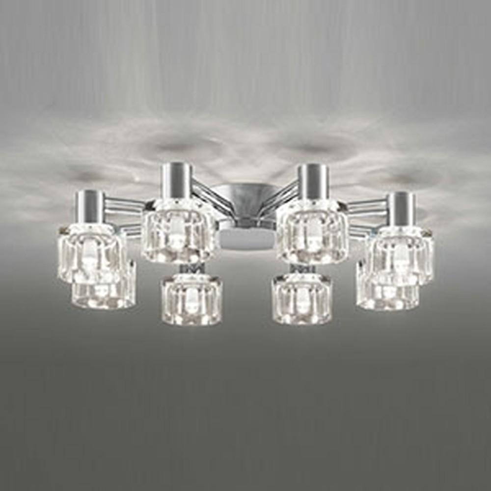 オーデリック LEDシャンデリア ~8畳用 5.2W×8灯タイプ 電球色 調光タイプ OC257018LC