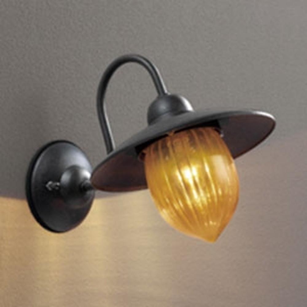 オーデリック LEDポーチライト 防雨型 白熱灯40W相当 電球色 別売センサ対応 鉄 OG254238LC