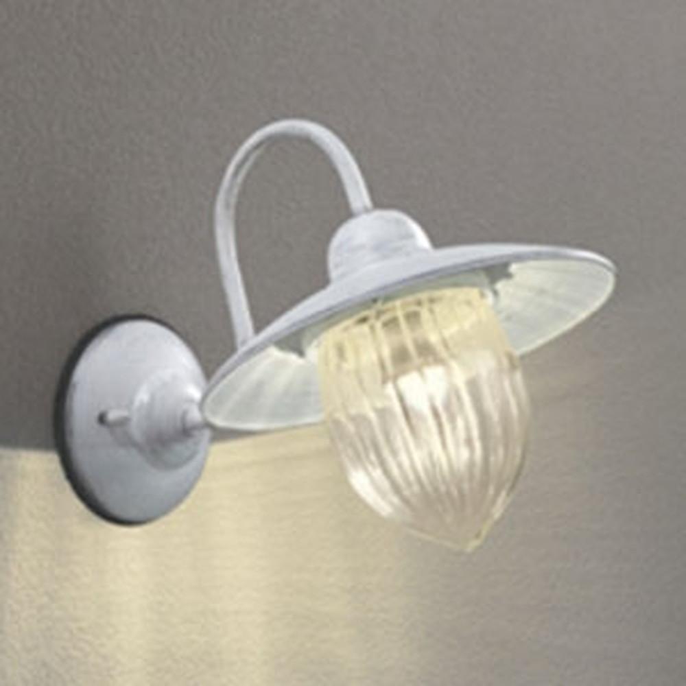 オーデリック LEDポーチライト 防雨型 白熱灯40W相当 電球色 別売センサ対応 アイボリー OG254237LC