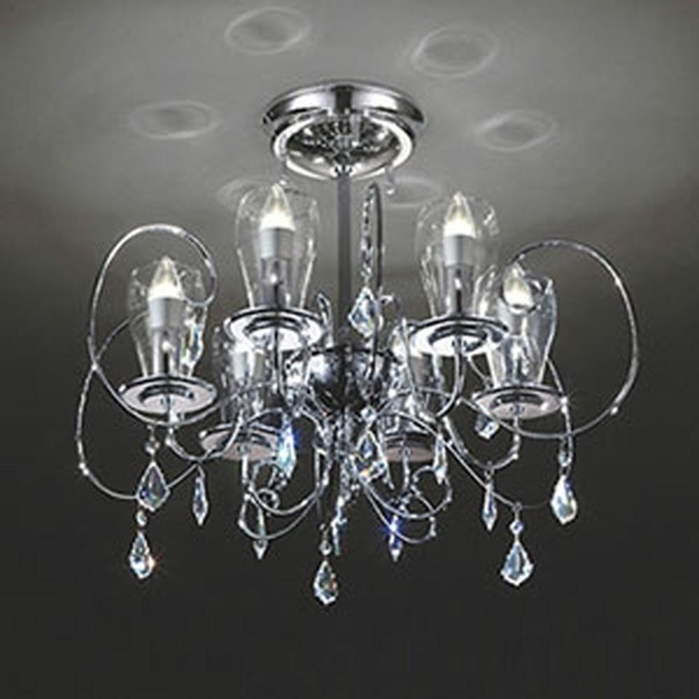 オーデリック LEDシャンデリア ~6畳用 5.2W×6灯タイプ 電球色 調光タイプ OC006896LC