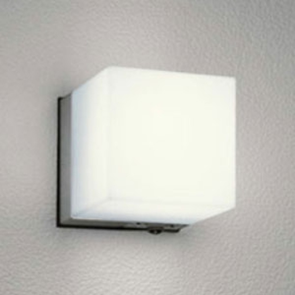 オーデリック LEDポーチライト 防雨型 白熱灯60W相当 電球色 人感センサ付 マットシルバー OG041647LC