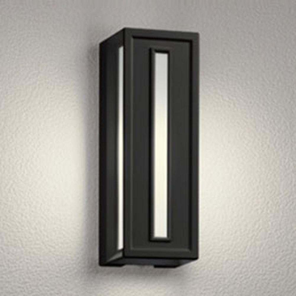オーデリック LEDポーチライト 防雨型 白熱灯40W相当 電球色 人感センサ付 黒 OG041712LC