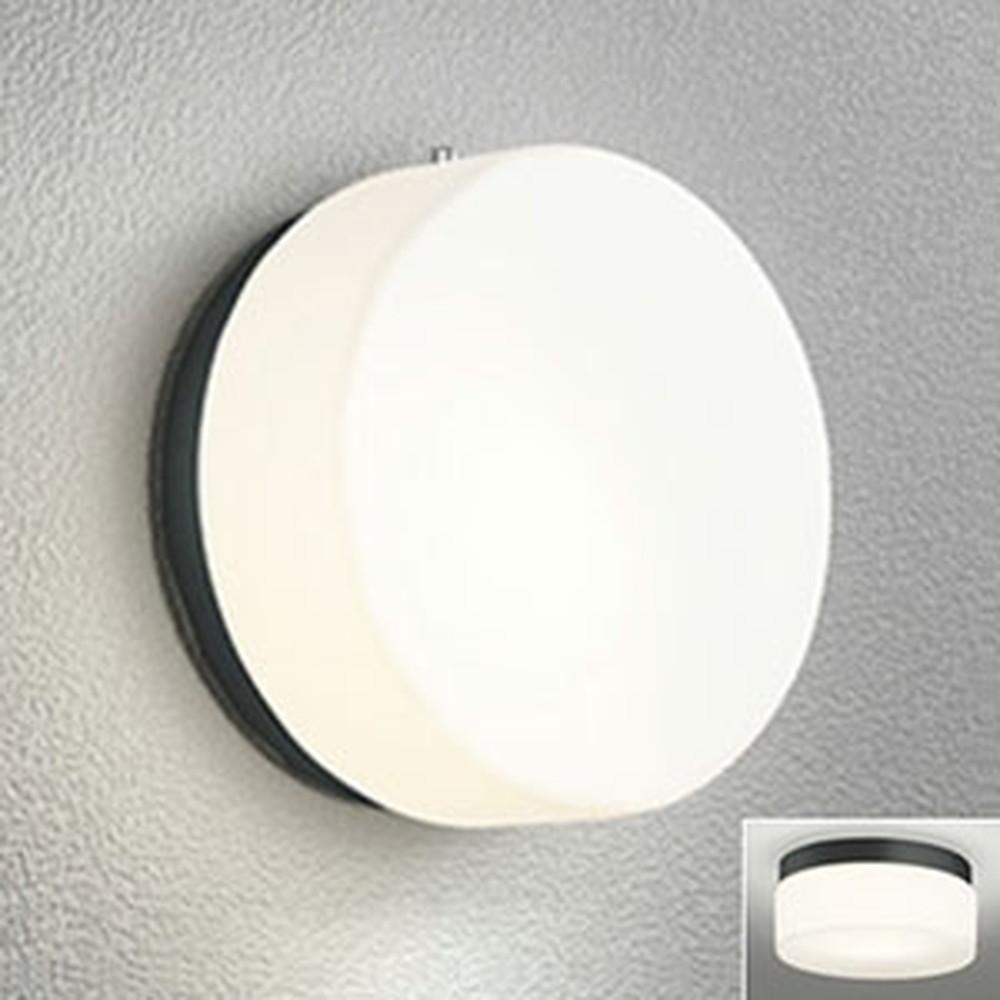 オーデリック LEDポーチライト 防雨型 壁面・天井面取付兼用 白熱灯40W相当 電球色 別売センサ対応 黒 OG041430LC
