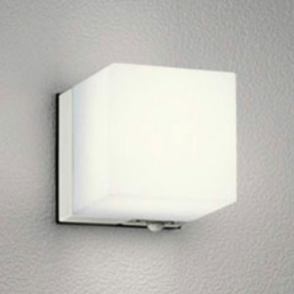 オーデリック LEDポーチライト 防雨型 白熱灯60W相当 電球色 人感センサ付 オフホワイト OG041645LC