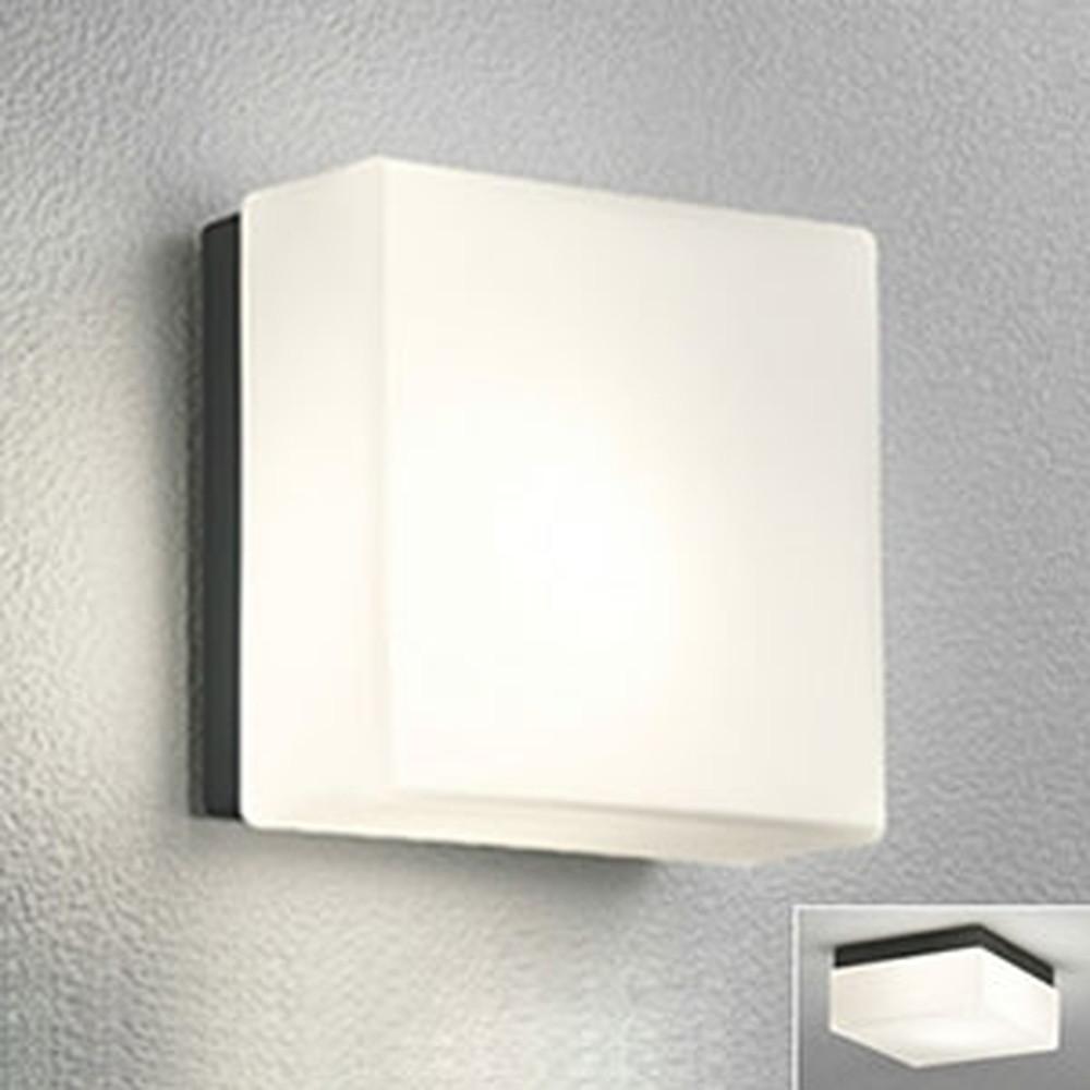 オーデリック LEDポーチライト 防雨型 壁面・天井面取付兼用 白熱灯40W相当 電球色 別売センサ対応 黒 OG041245LC