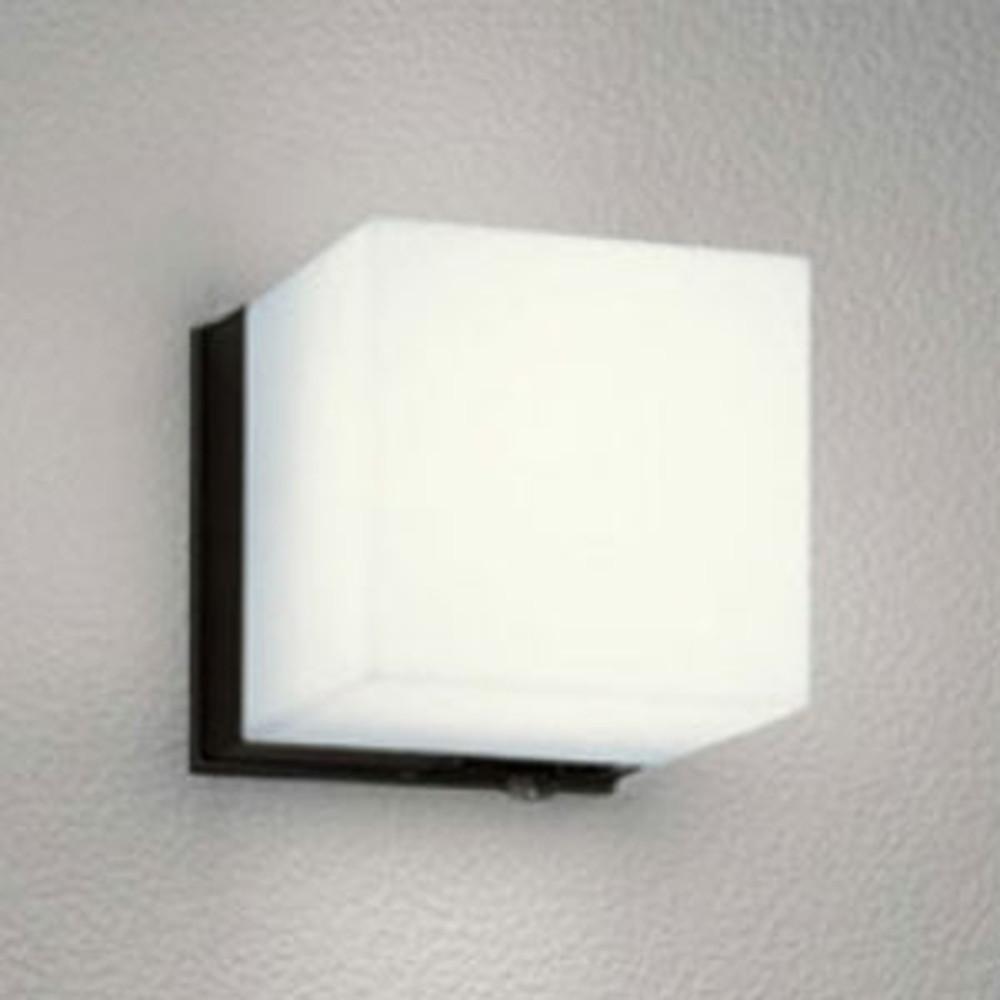 オーデリック LEDポーチライト 防雨型 白熱灯60W相当 電球色 人感センサ付 黒 OG041646LC