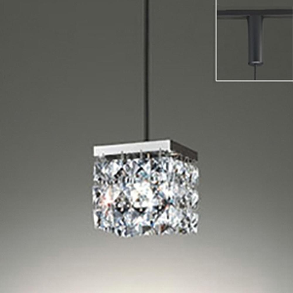オーデリック LED一体型ペンダントライト ライティングレール取付専用 白熱灯60W相当 電球色 調光タイプ OP252361