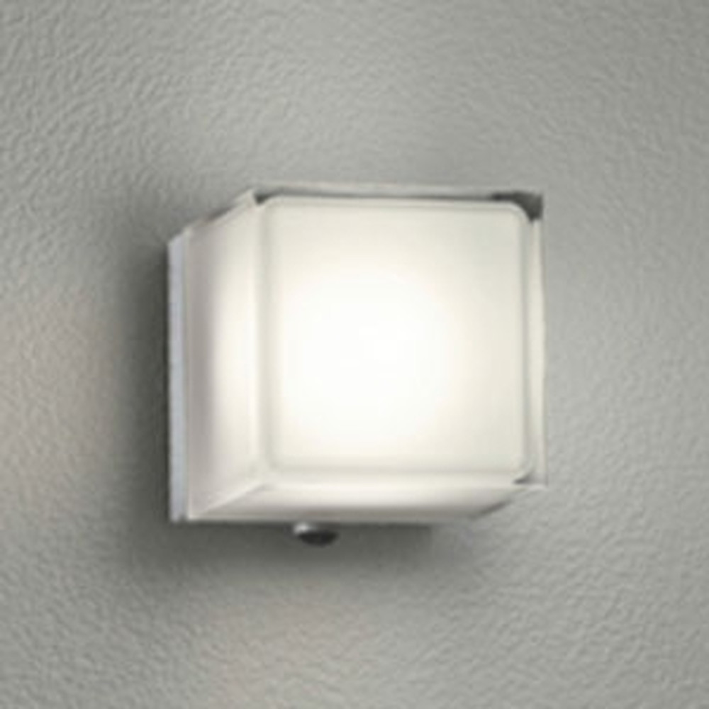 オーデリック LED一体型ポーチライト 防雨型 白熱灯60W相当 電球色 人感センサ付 マットシルバー OG254294P1