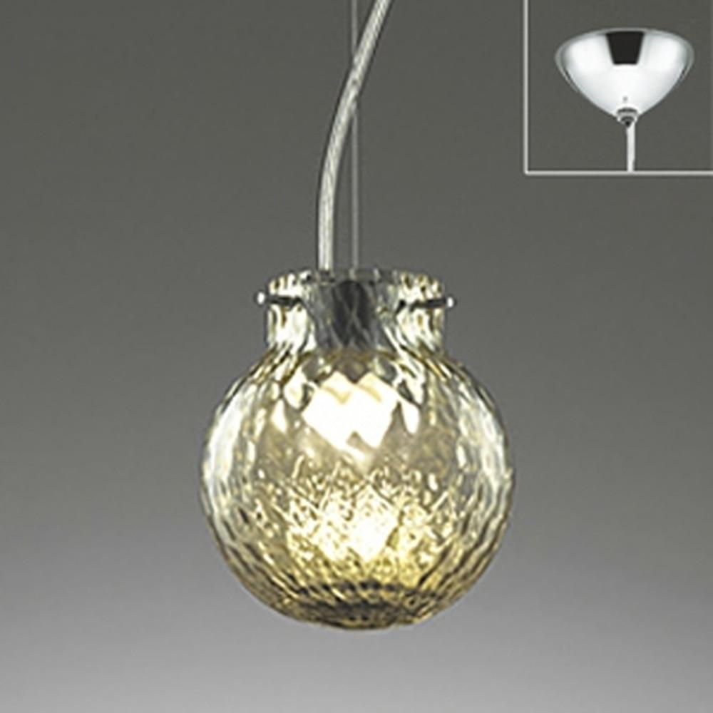 オーデリック LED一体型ペンダントライト 《made in NIPPON》 直付専用 白熱灯60W相当 電球色 調光タイプ 網目モールガラス OP252215P1
