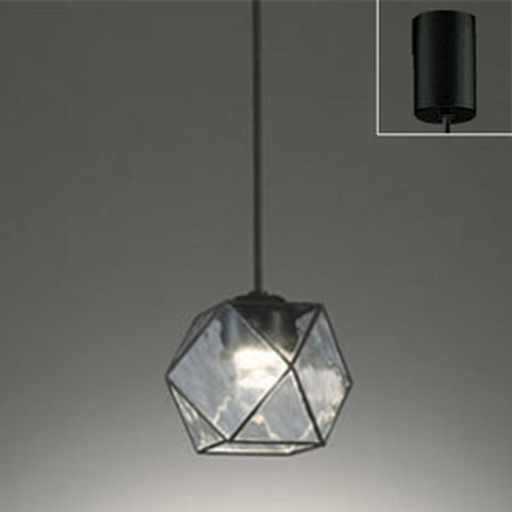 オーデリック LEDペンダントライト 引掛シーリングタイプ 白熱灯60W相当 電球色 調光タイプ 波模様入 OP252357