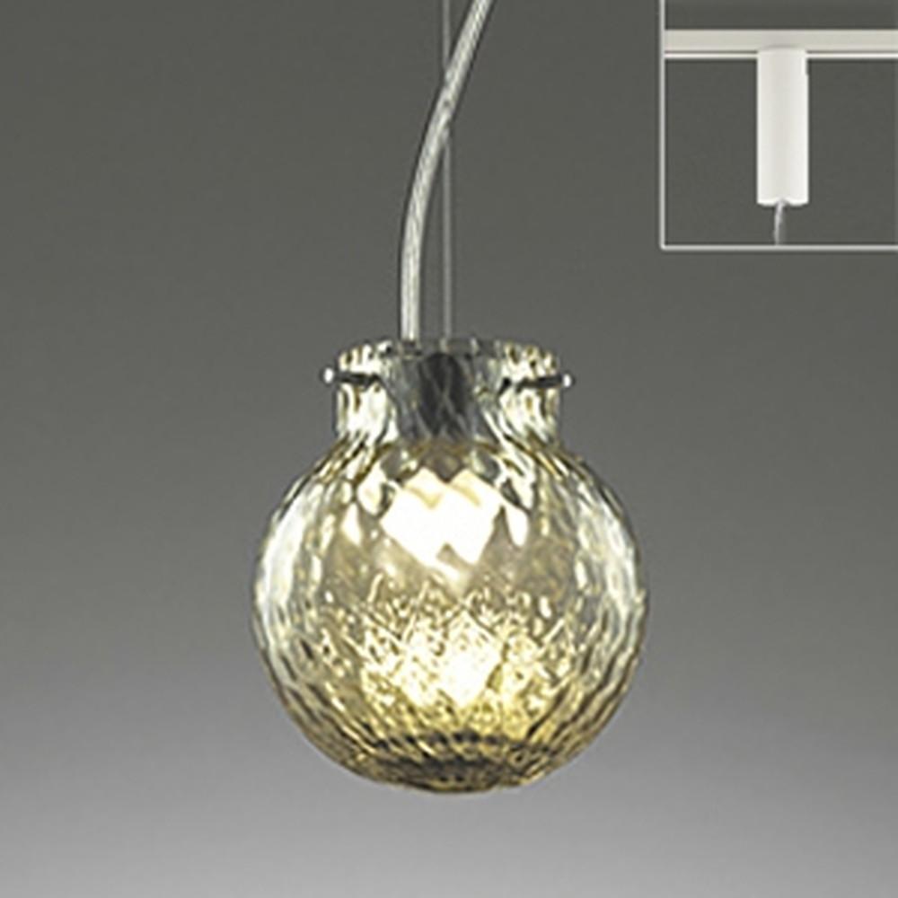 オーデリック LED一体型ペンダントライト 《made in NIPPON》 ライティングレール取付専用 白熱灯60W相当 電球色 調光 網目モールガラス ワイヤー収納フレンジ付 OP252216P1