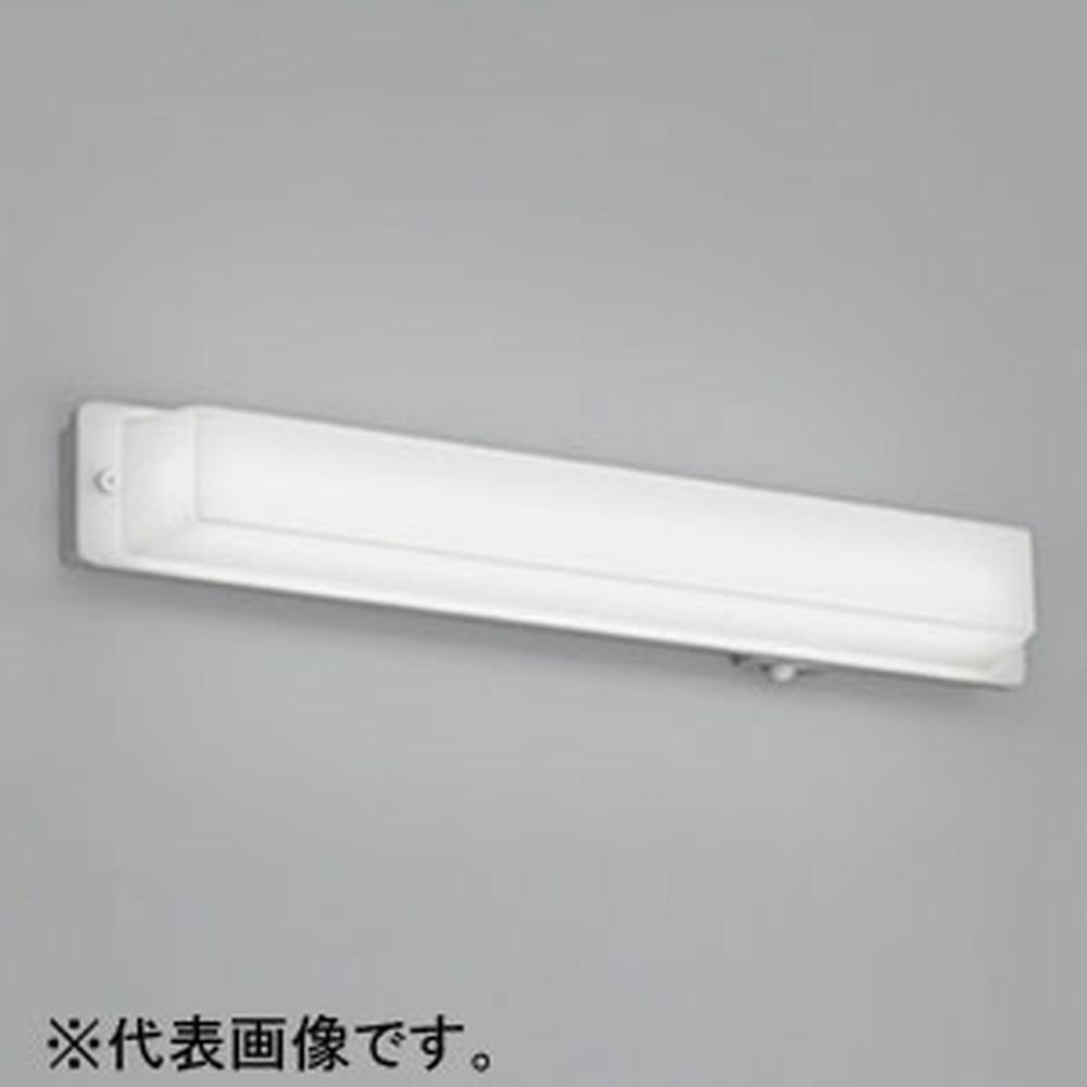 オーデリック LED一体型ポーチライト 防雨型 横向き取付専用 FL20W相当 電球色 人感センサ付 OG254508