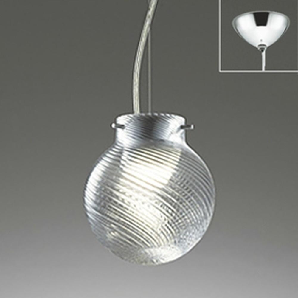 オーデリック LED一体型ペンダントライト 《made in NIPPON》 直付専用 白熱灯60W相当 電球色 調光タイプ 斜めモールガラス OP252213P1