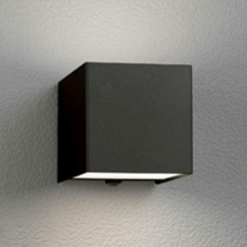 オーデリック LED一体型ポーチライト 防雨型 上下配光タイプ 電球色 人感センサ付 黒 OG254380