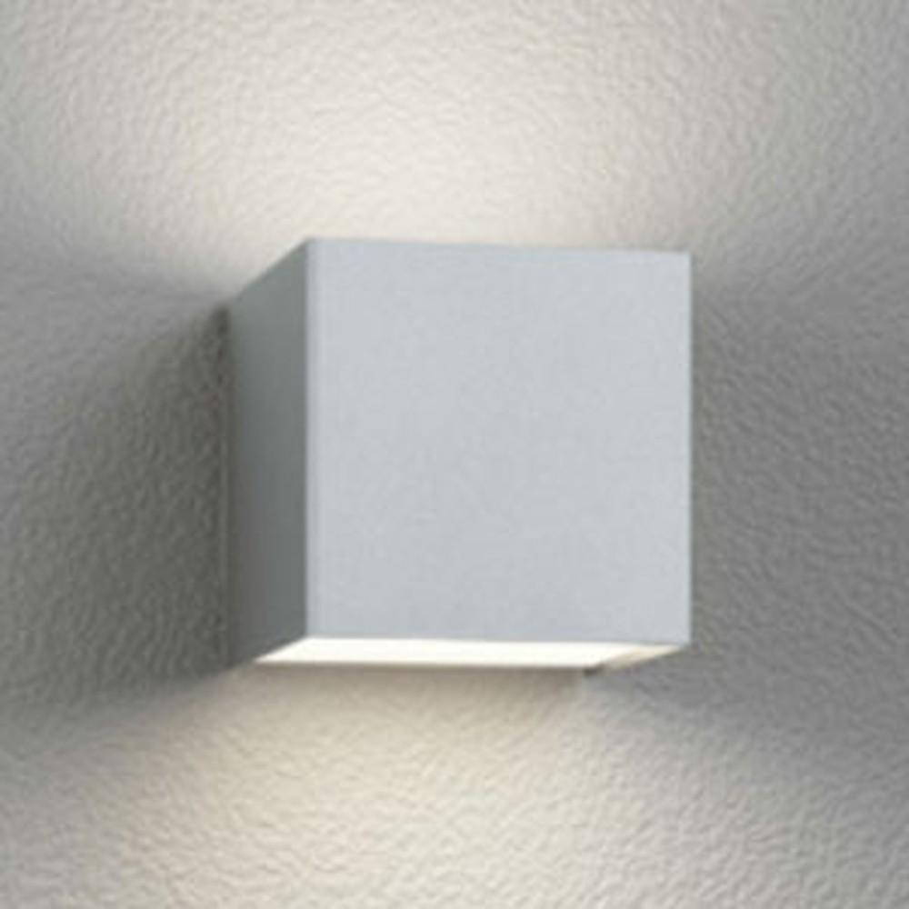オーデリック LED一体型ポーチライト 防雨型 上下配光タイプ 電球色 マットシルバー OG254381