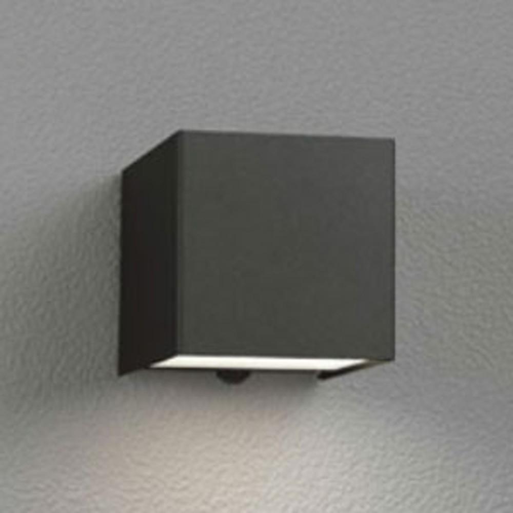 オーデリック LED一体型ポーチライト 防雨型 下面配光タイプ 電球色 人感センサ付 黒 OG254384