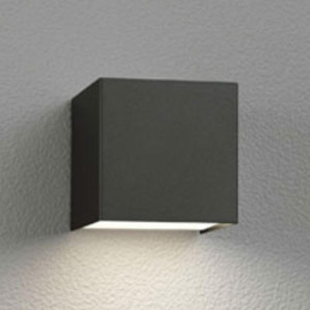 オーデリック LED一体型ポーチライト 防雨型 下面配光タイプ 電球色 黒 OG254383