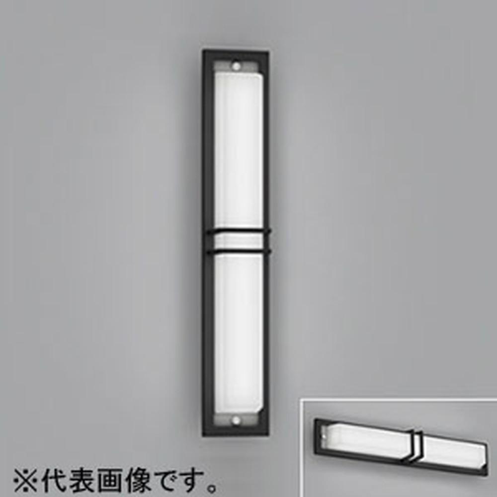オーデリック LED一体型ポーチライト 防雨型 壁面・天井面取付兼用 縦向き・横向き取付可能 FL20W相当 昼白色 黒 OG254493