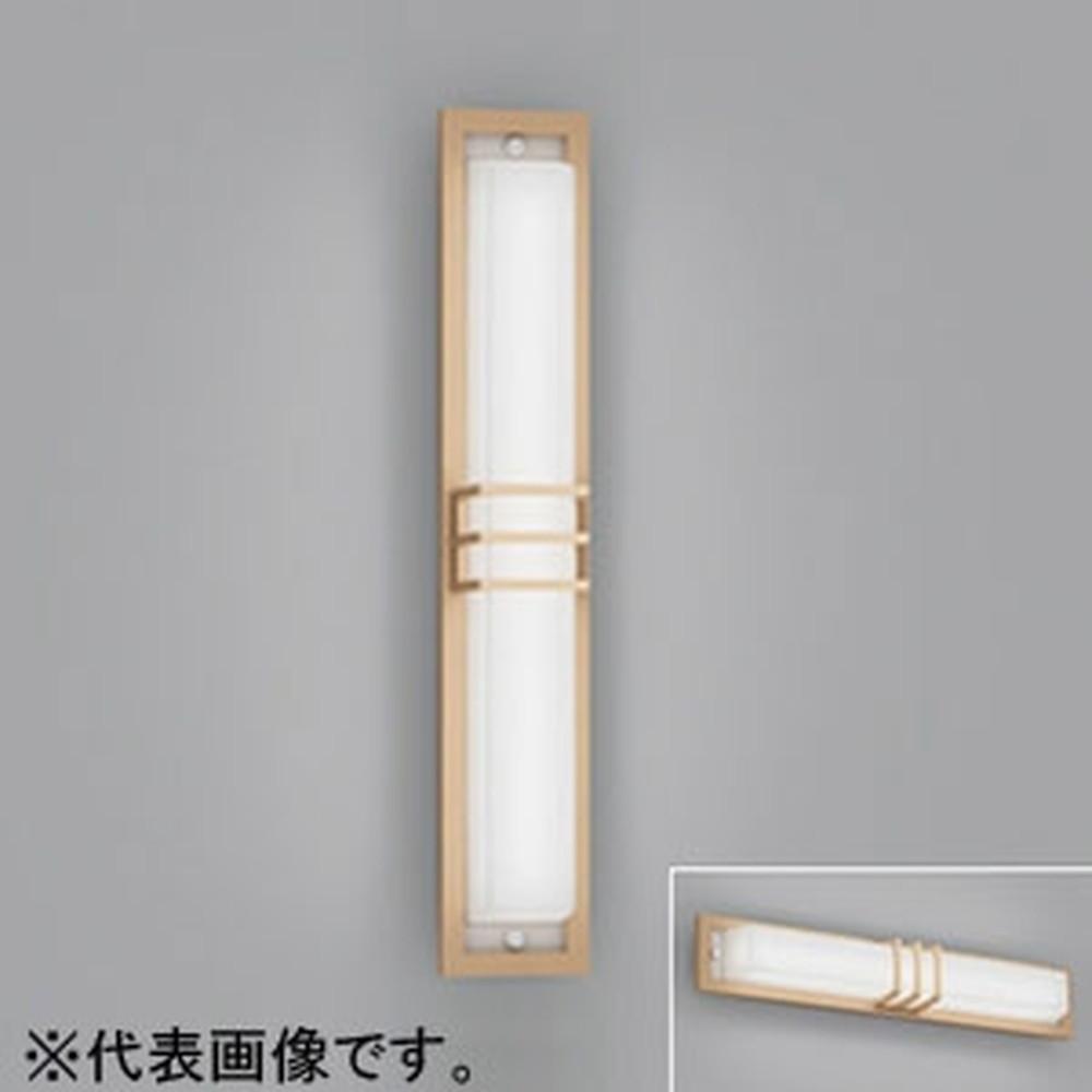 オーデリック LED一体型ポーチライト 防雨型 壁面・天井面取付兼用 縦向き・横向き取付可能 FL20W相当 電球色 白木調 OG254498