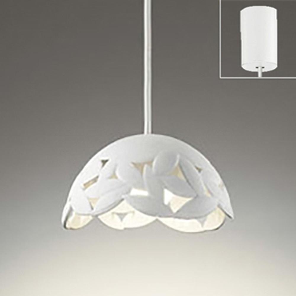 オーデリック LED一体型ペンダントライト 《made in NIPPON》 引掛シーリングタイプ 白熱灯60W相当 電球色 調光タイプ 白 OP252199P1