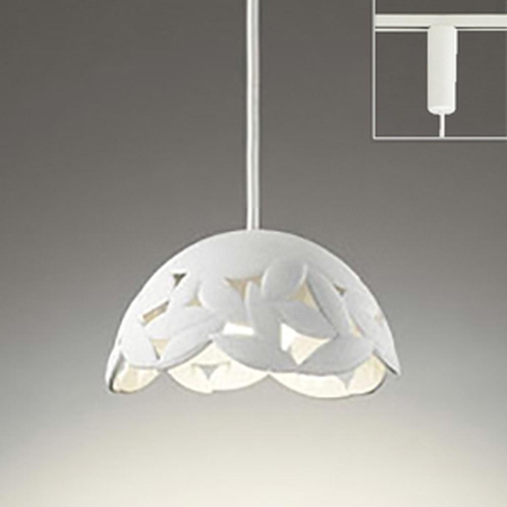 オーデリック LED一体型ペンダントライト 《made in NIPPON》 ライティングレール取付専用 白熱灯60W相当 電球色 調光タイプ 白 OP252200P1