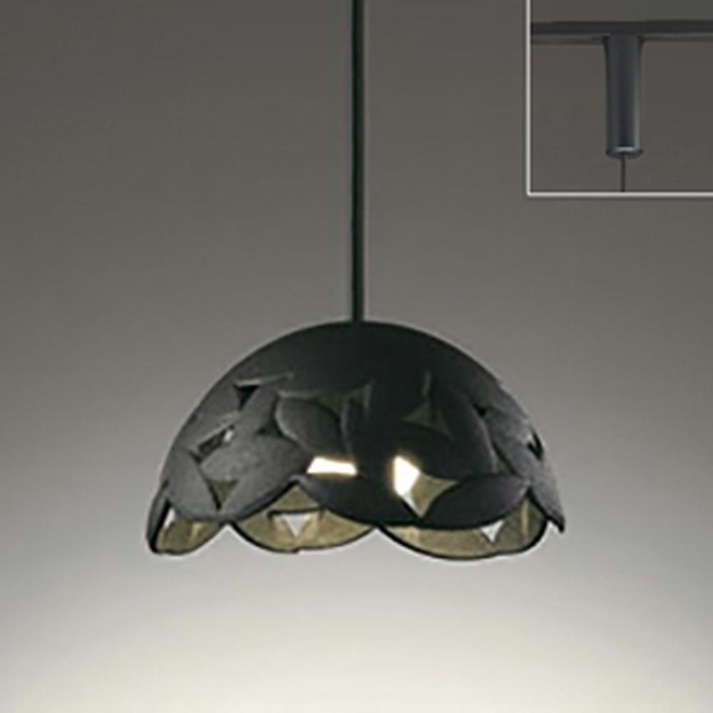 オーデリック LED一体型ペンダントライト 《made in NIPPON》 ライティングレール取付専用 白熱灯60W相当 電球色 調光タイプ 黒 OP252198P1