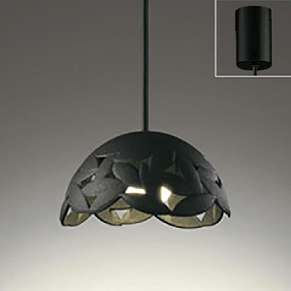 オーデリック LED一体型ペンダントライト 《made in NIPPON》 引掛シーリングタイプ 白熱灯60W相当 電球色 調光タイプ 黒 OP252197P1