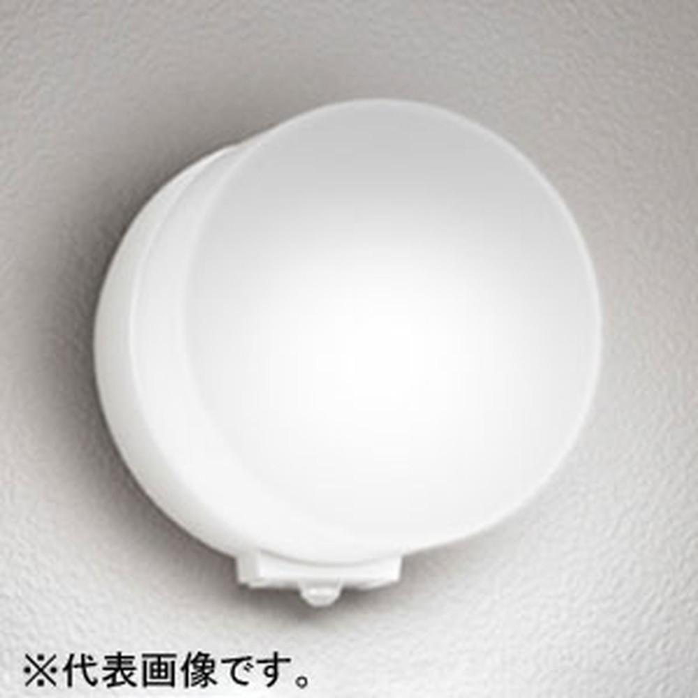 オーデリック LEDポーチライト 防雨型 壁面取付専用 白熱灯60W相当 昼白色 人感センサ付 オフホワイト OG254398NC