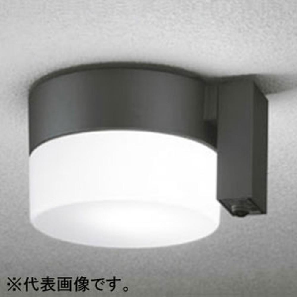 オーデリック LEDポーチライト 防雨型 軒下・天井面取付専用 白熱灯60W相当 昼白色 人感センサ付 黒 OG254402NC