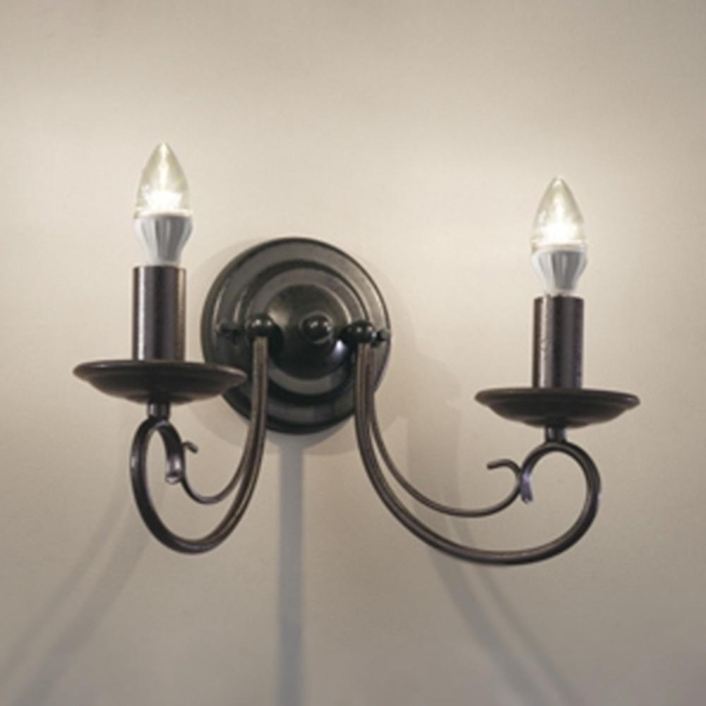 オーデリック LEDブラケットライト 白熱灯40W×2灯相当 電球色 黒色ラスティ OB080720LD