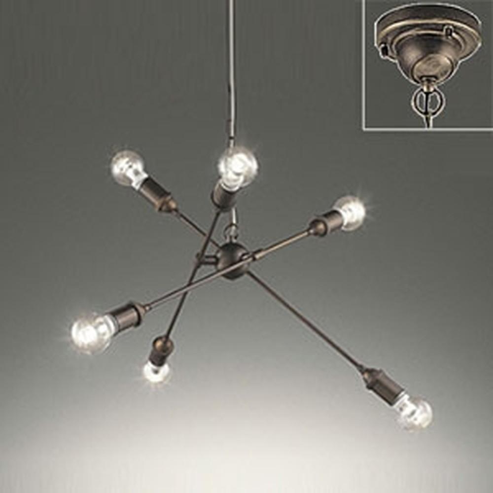 オーデリック LEDシャンデリア ~6畳用 6W×6灯タイプ 電球色 調光タイプ 電動昇降装置対応 OC257049LC