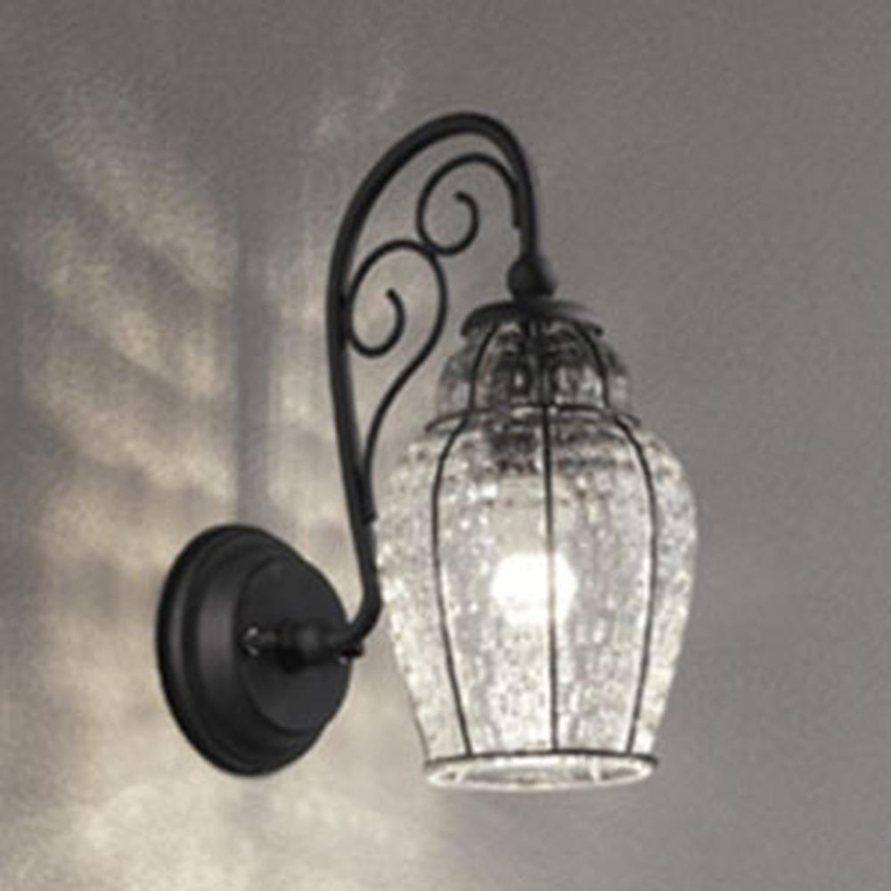 オーデリック LEDポーチライト 防雨型 白熱灯40W相当 電球色 別売センサ対応 透明・模様入 OG254481LC