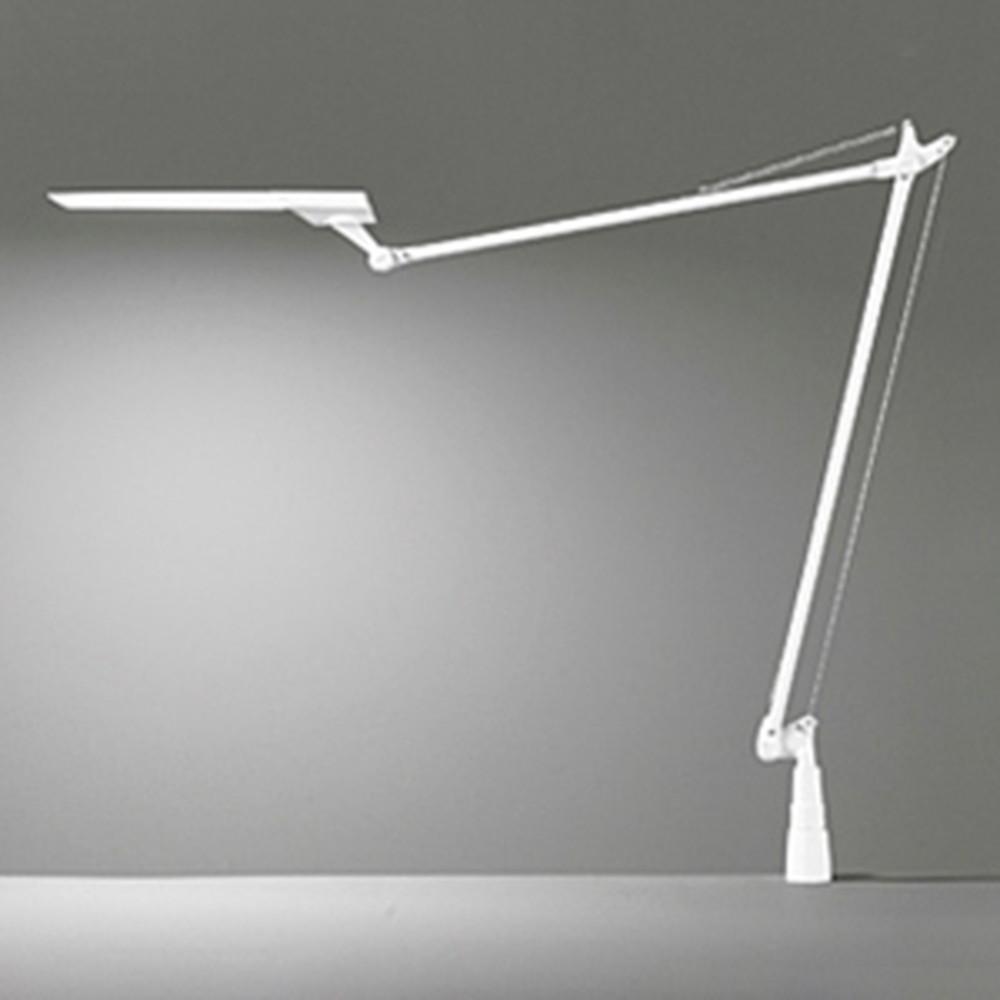 オーデリック LED一体型アームスタンドライト クランプタイプ 白熱灯60W相当 電球色~昼光色 調光・調色タイプ コード2m付 白 OT265011