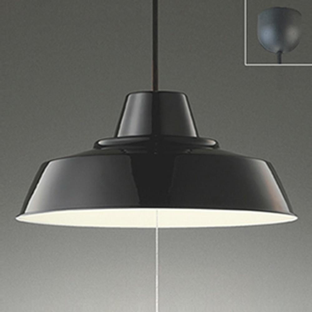 オーデリック LED一体型ペンダントライト ~8畳用 電球色 段調光タイプ 黒 OP252372
