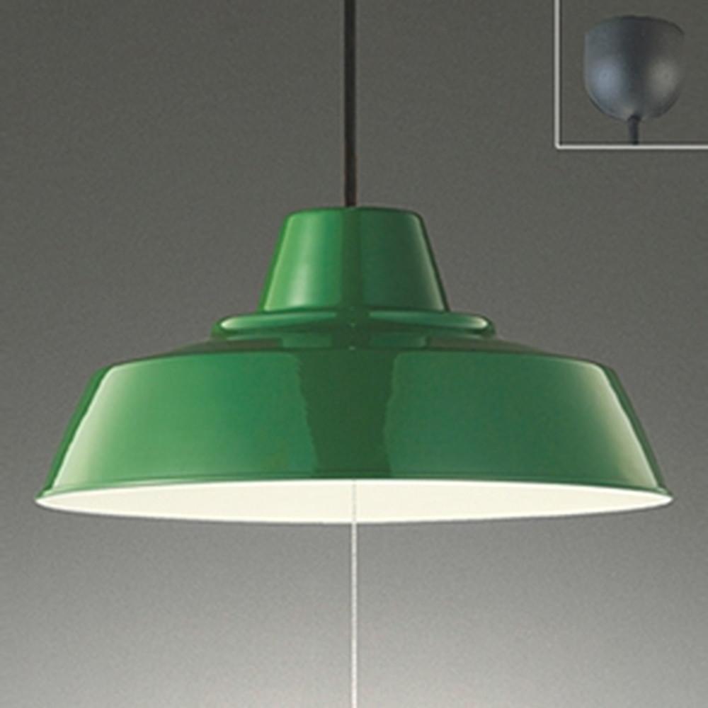 オーデリック LED一体型ペンダントライト ~8畳用 電球色 段調光タイプ 緑 OP252373