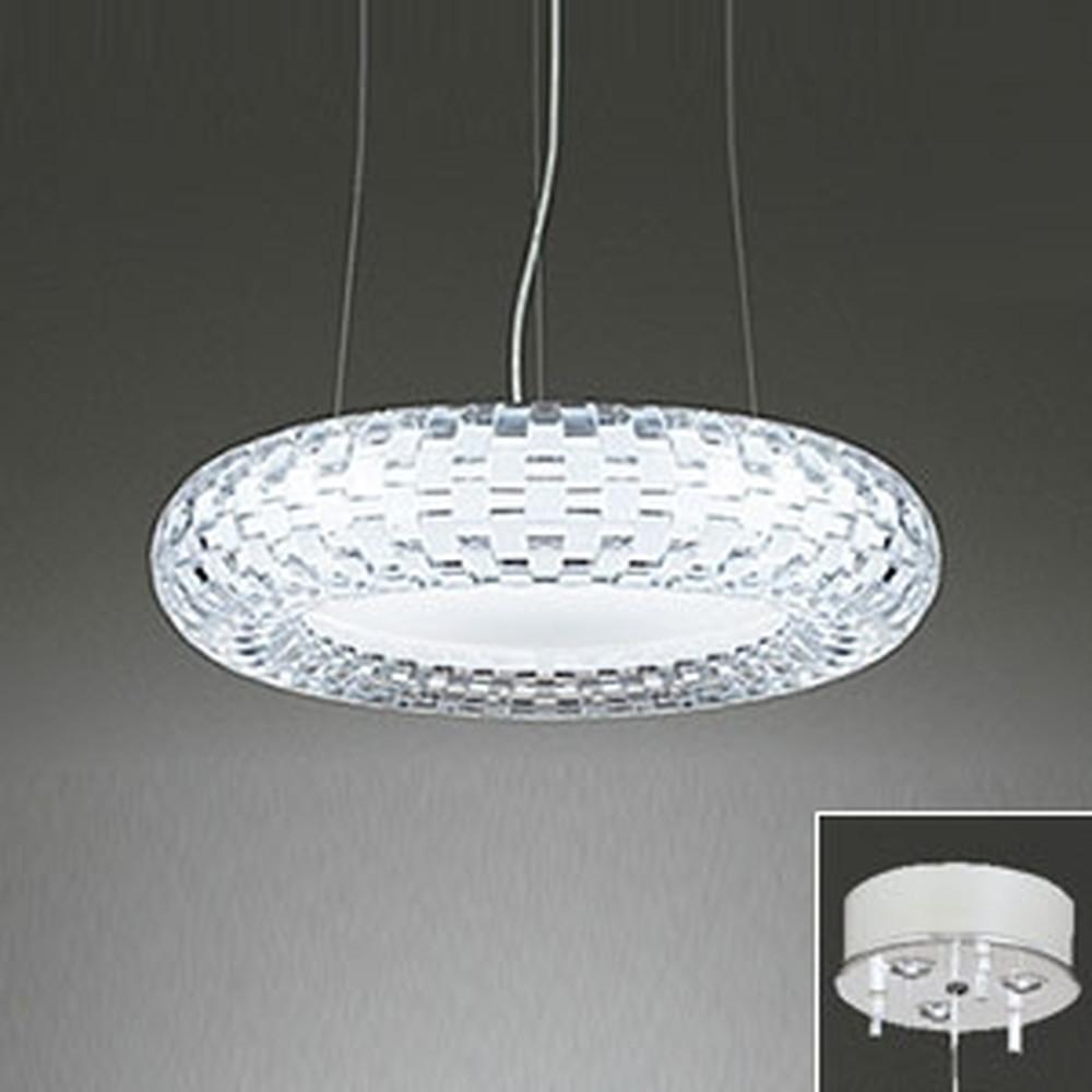 オーデリック LED一体型シャンデリア ~10畳用 電球色~昼光色 調光・調色タイプ 電動昇降装置対応 リモコン付 OC257059