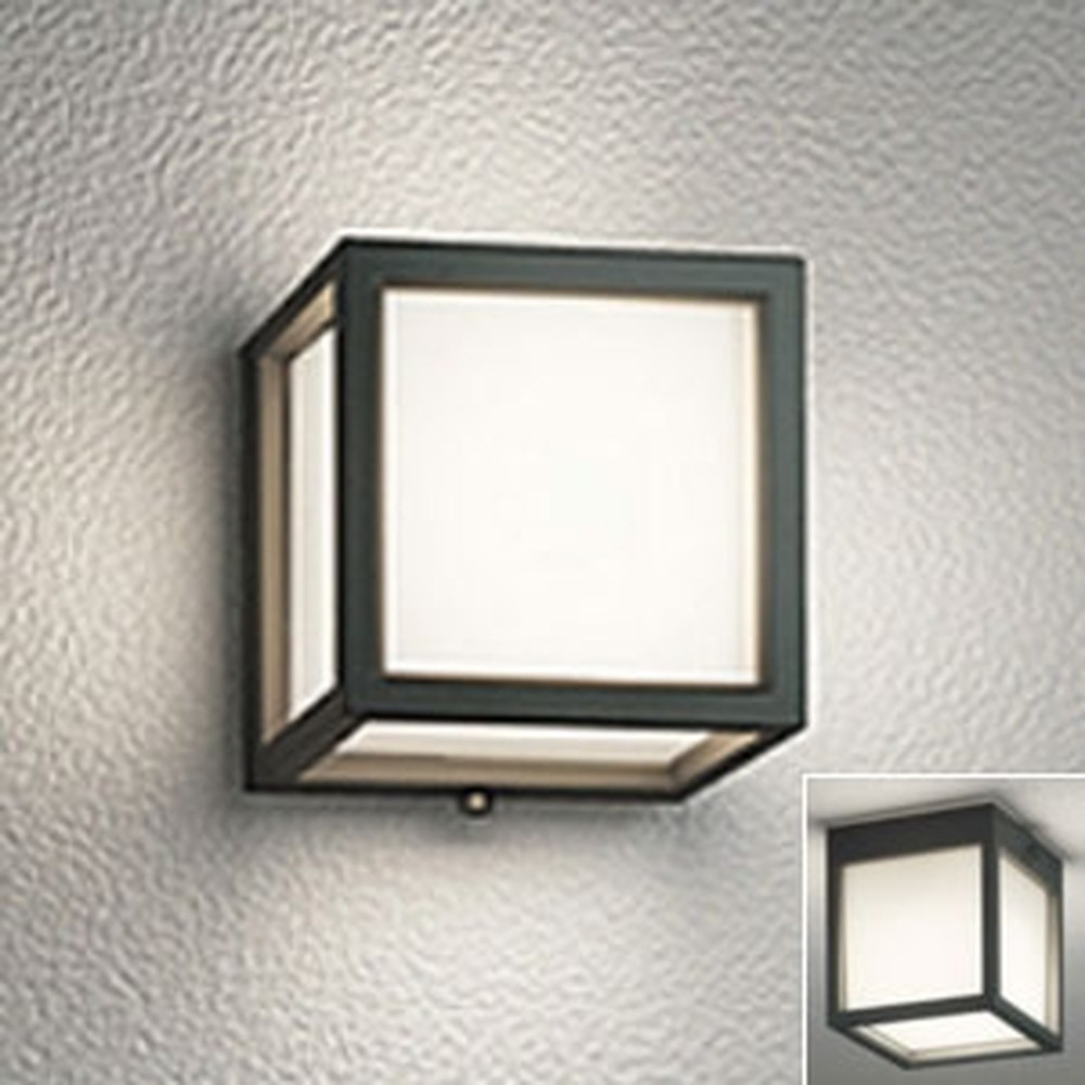 オーデリック LED一体型ポーチライト 防雨・防湿型 壁面・天井面・傾斜面取付兼用 白熱灯60W相当 電球色 黒 OG254610
