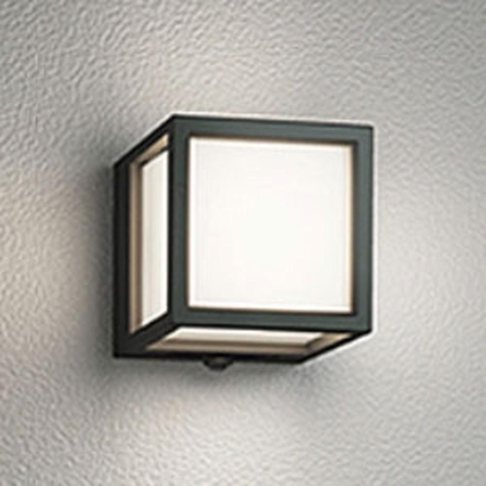 オーデリック LED一体型ポーチライト 防雨型 白熱灯60W相当 電球色 人感センサ付 黒 OG254611