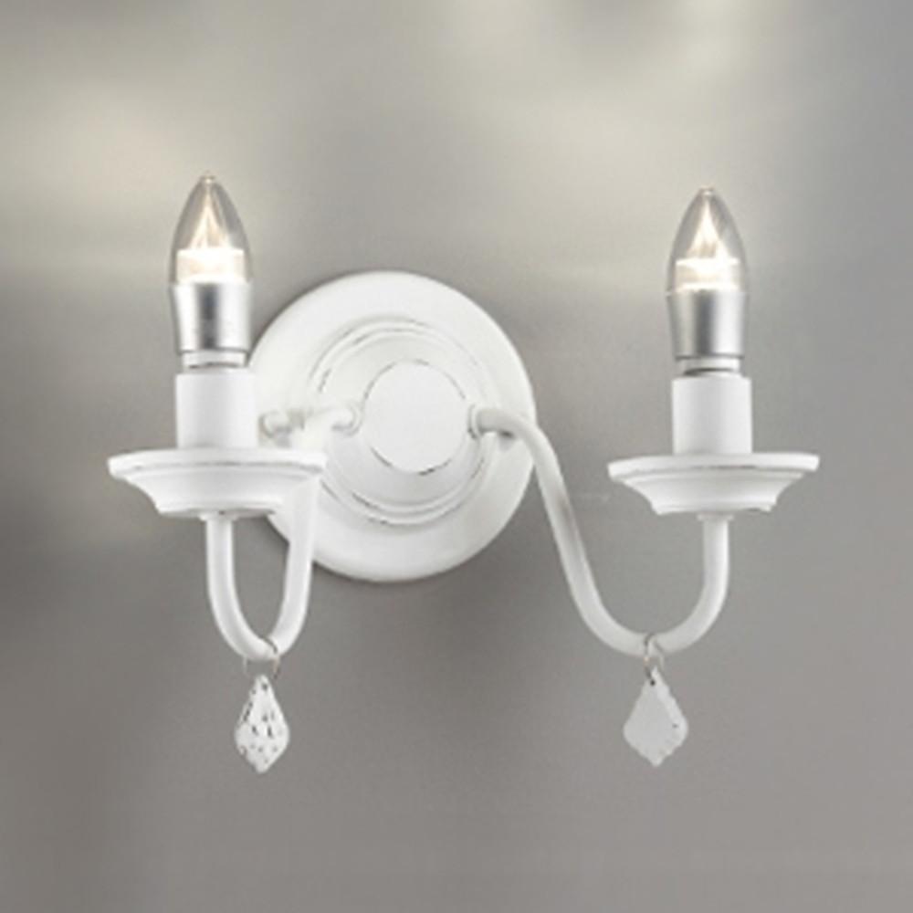 オーデリック LEDブラケットライト 白熱灯40W×2灯相当 電球色 調光タイプ 白色ハンドペイント OB255131LC