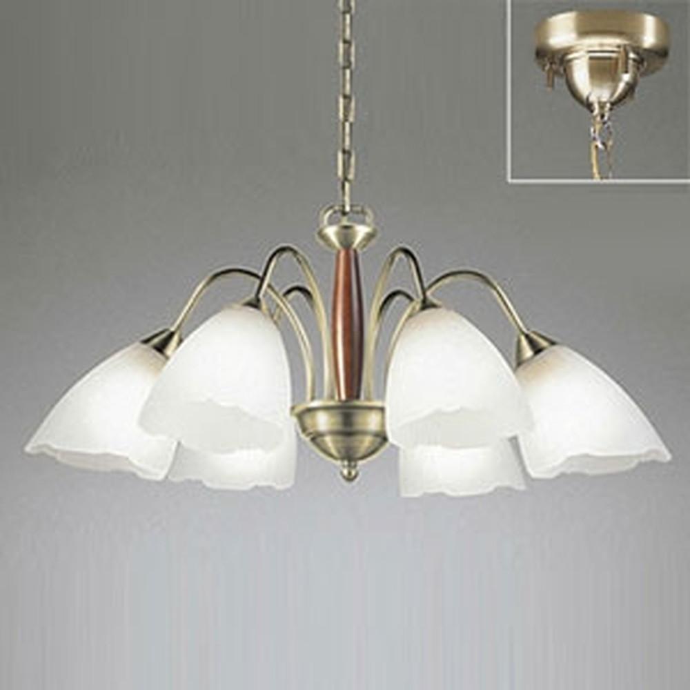 オーデリック LEDシャンデリア ~10畳用 9.8W×6灯タイプ 電球色 調光タイプ 電動昇降装置対応 OC006487LC