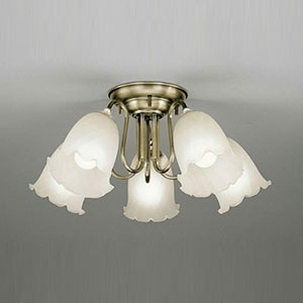 オーデリック LEDシャンデリア ~6畳用 9.8W×5灯タイプ 電球色 調光タイプ OC006785LC