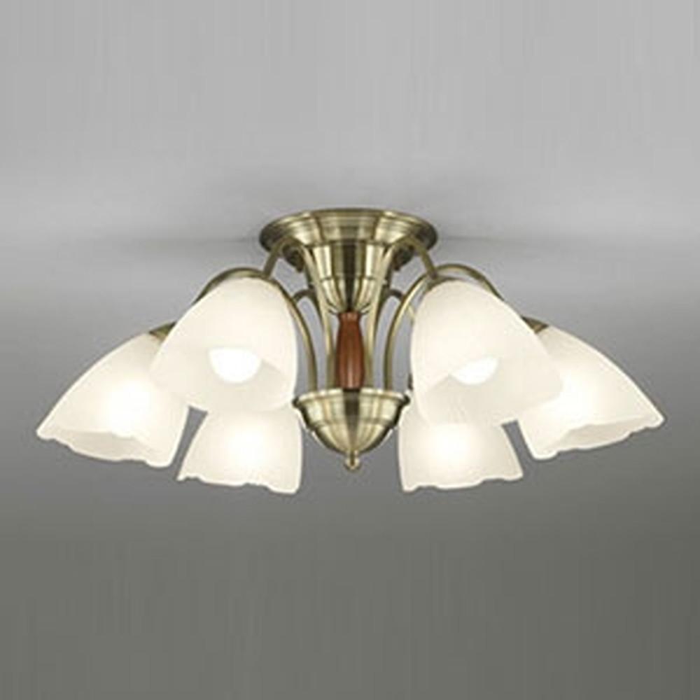 オーデリック LEDシャンデリア ~8畳用 9.8W×6灯タイプ 電球色 調光タイプ OC006917LC