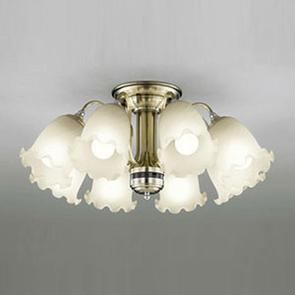 オーデリック LEDシャンデリア ~12畳用 8.6W×8灯タイプ 電球色⇔昼白色 光色切替調光タイプ リモコン付 OC006928PC